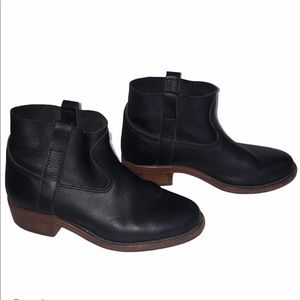 La Botte Gardiane Black Ankle Leather Booties 37